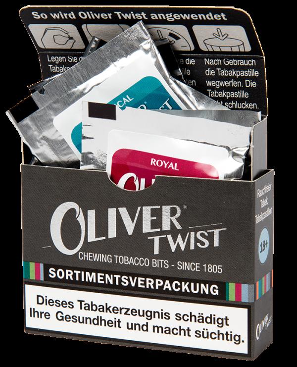 Sortimentspackung von Oliver Twist Tabakpastillen
